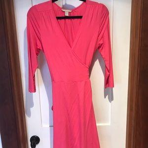 Pink Banana Republic Wrap dress